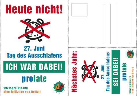 Postkarten Frankiert Drucken by Prolate Tag Des Ausschlafens Downloads