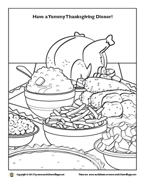 coloring page thanksgiving dinner pin nutrition coloring pages for kids image search results