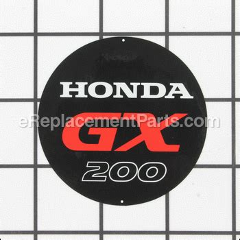 Emblem Gx emblem gx200 87521 zl0 030 for honda lawn equipment