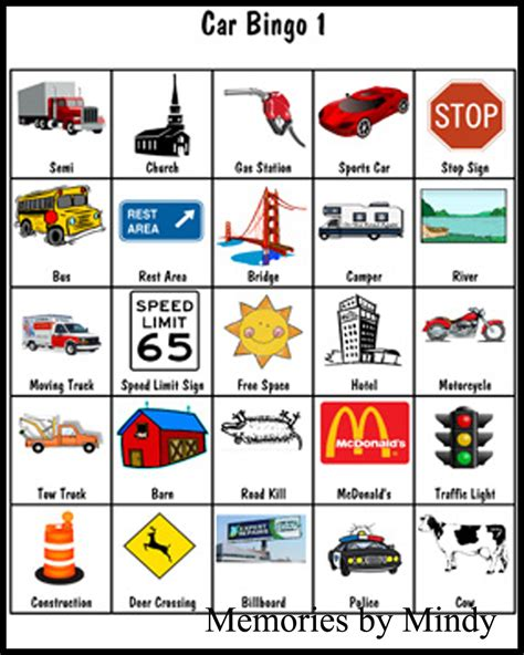 printable road trip bingo cards google image result for http solutions memoriesbymindy