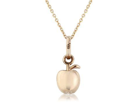 Apple Pendant Necklace gold apple pendantgemma j