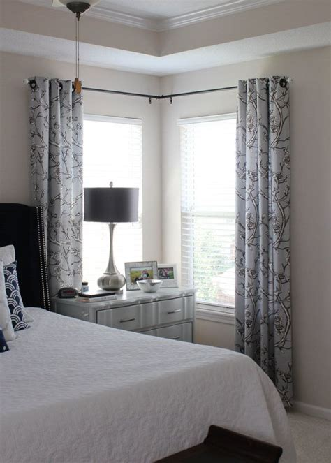 drapery rods for corner windows 1000 ideas about corner window curtains on pinterest