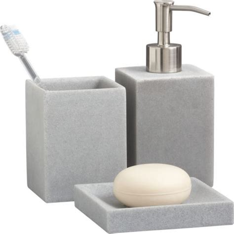 Stone Resin Bath Accessories Modern Bathroom Contemporary Bathroom Accessories