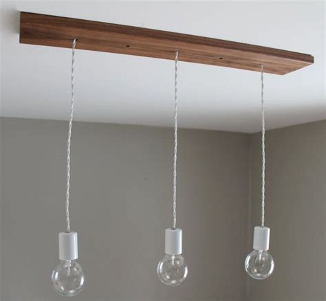Canopy Light Fixture Three Bare Bulb Chandelier Light Fixture With Wood Canopy Ed