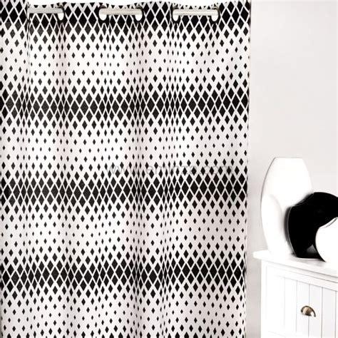 rideau 140 x h250 cm sparks blanc et noir rideaux eminza