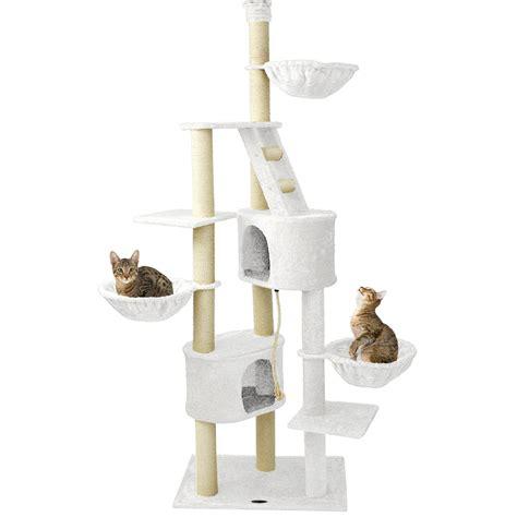 tiragraffi a soffitto happypet tiragraffi a soffitto 230 260cm albero gatti
