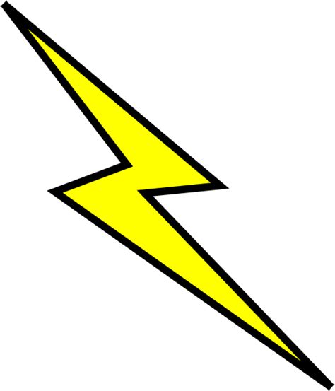 lightning bolt template lightning bolt stencil clipart best