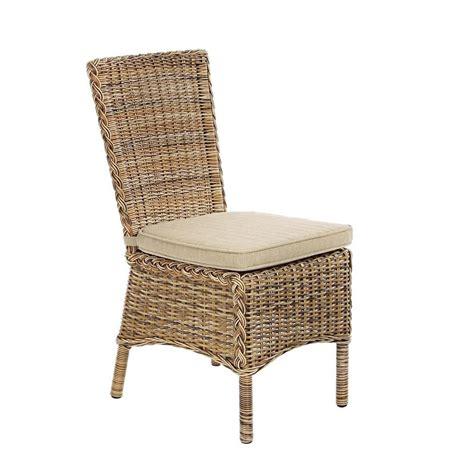sedie per giardino antigua sedia in rattan sintetico con cuscino per