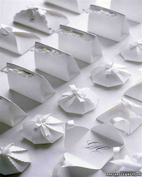 templates for wedding favor boxes 15 years of wedding favors martha stewart weddings