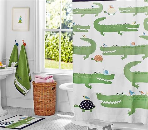 baby bathroom shower curtains 111 best baby showers images on pinterest pottery barn