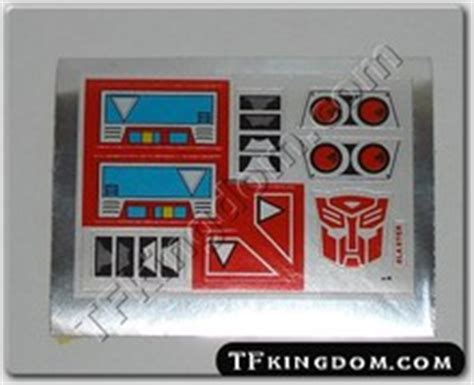 Transformers G1 Sticker Sheets