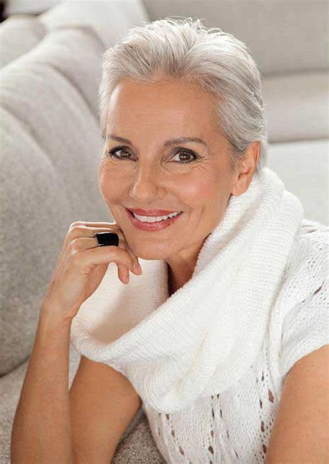 hairstyles for gray hair women over 55 20 short haircuts for over 60 short hairstyles