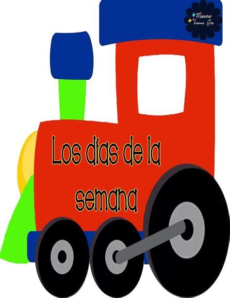 imagenes educativas 4 años tren de los d 237 as de la semana 1 imagenes educativas