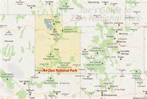 us map of major national parks joe s guide to zion national park getting to zion