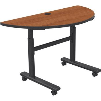 Adjustable Height Meeting Table Height Adjustable Folding Conference And Classroom Table Half Cherry