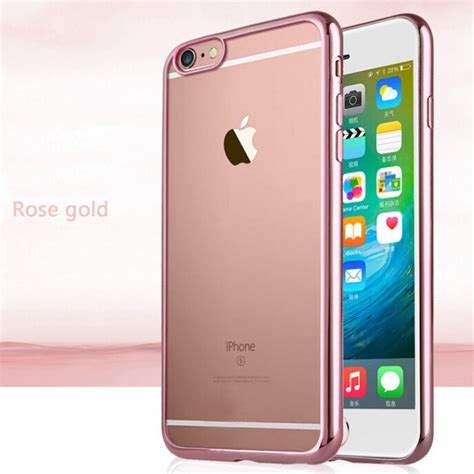 Agen Supplier Iphone 6 Cristal Bumber Gold ultra thin gold plating clear for iphone 6 6s 4 7 inch 6 plus 5 5 inch