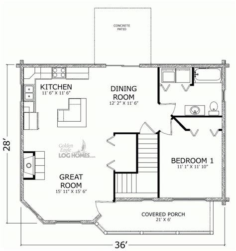empty nest floor plans golden eagle log and timber homes floor plan details