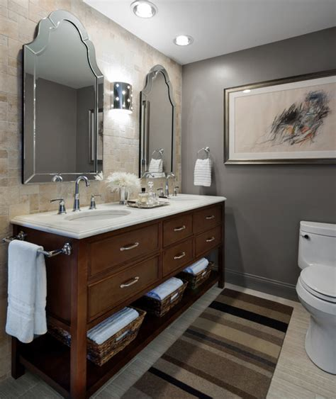 gray and tan bathroom gold coast pied 224 terre transitional bathroom