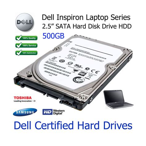 Harddisk Laptop 500gb 500gb dell inspiron 1464 2 5 quot sata laptop disk drive hdd upgrade ebay