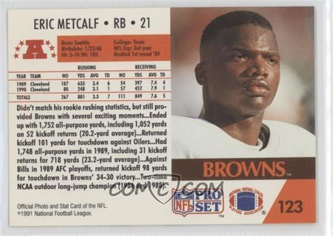 Set Gotikbandana Size 123 Th 5 1991 pro set base 123 eric metcalf comc card