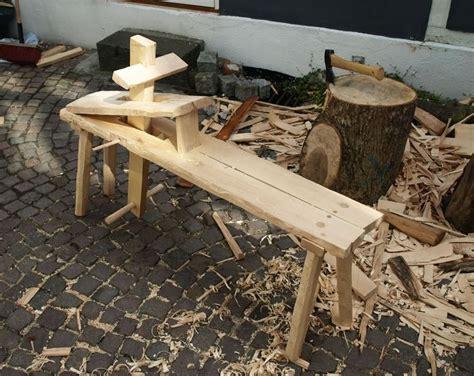 haandkraft  shaving horse  riving wood  shop