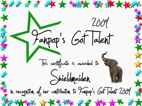 talent show certificate 4 free pdf psd format download