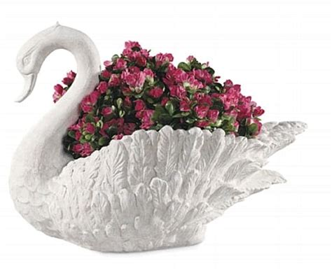 Large Swan Planter by Garden Swan Planter With Classical Look