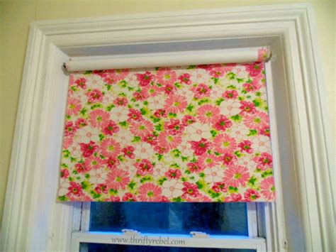 fabric pattern roller shades diy fabric covered vinyl roller shade thrifty rebel vintage
