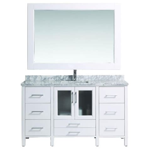 60 Inch Vanity Top Single Sink Design Element B60 Ds W Stanton 60 Inch Single Sink Vanity Set With Marble Top In White And Mirror