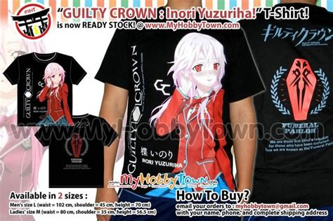Kaos T Shirt Hitman guilty crown items at my hobby town anime cross stitch