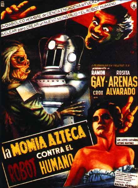 film robot umano la momia azteca contra el robot humano 1958 filim adamı