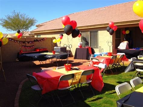 black car party in the backyard mickey mouse birthday party ideas backyard parties