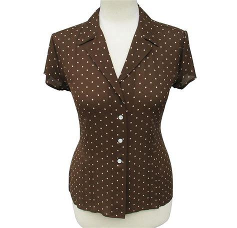 Jny Co Sweater Banana Sweet Opika jones new york brown polka dot 100 silk blouse size