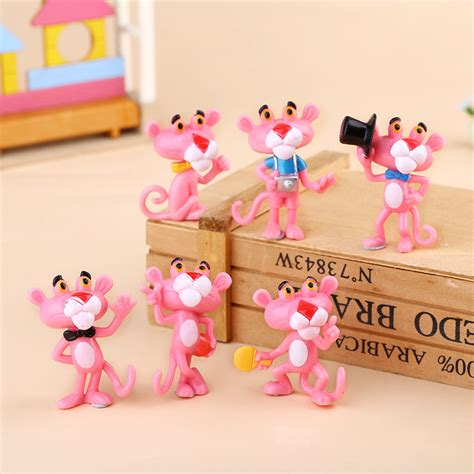 Dompet Rajut Mini 6 5 Cm 1 6pcs set lovely pink panther figure toys 4 5cm mini pvc animals model