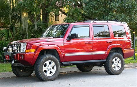 lifted jeep red lifted jeep commander www imgkid com the image kid has it