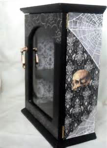 skull home decor gothic display cabinet gothic home decor skull decor