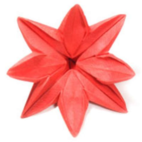 Origami 8 Petal Flower - how to make origami flower