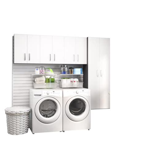 white laundry room cabinets modifi horizon 105 in w white laundry cabinet kit enl105