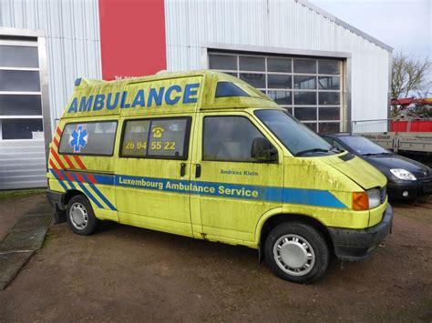 Lu Ambulance vw t4 rtw des luxembourg ambulance service der