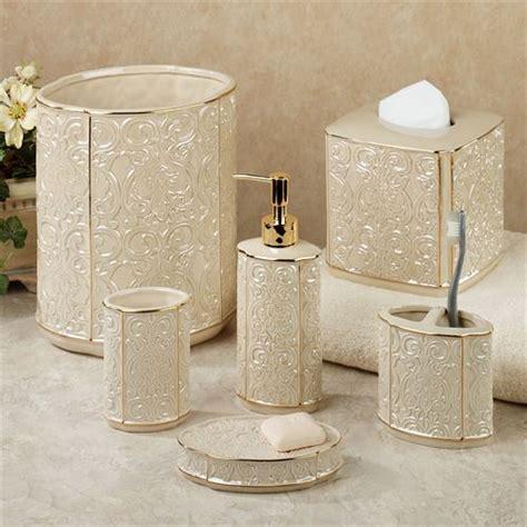 damask bathroom accessories furla cream damask ceramic bath accessories
