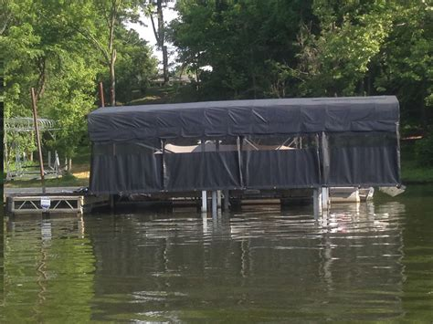 boat dock curtains lakeside lift