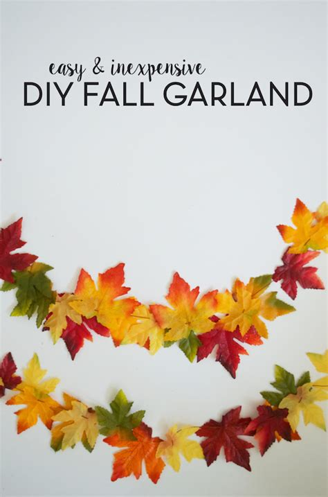 fall leaves garland printable diy fall leaf garland sincerely sara d