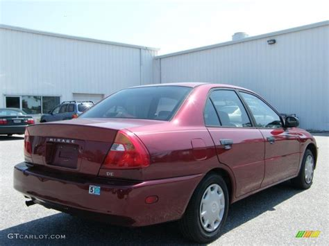 2000 mitsubishi mirage sedan 2000 cambridge red pearl mitsubishi mirage de sedan