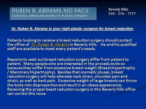 ruben b abrams facs beverly hills plastic surgery center dr ruben b abrams is your right plastic surgeon for
