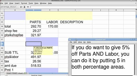 vlookup demo tutorial spreadsheet basics vlookup invoice using openoffice calc