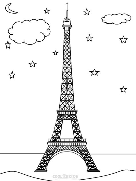 free paris theme coloring pages