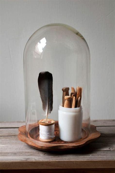 la cloche en verre en  belles  avec beaucoup didees