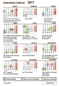 Calendario Laboral Cantabria 2018 Calendario Laboral 2017