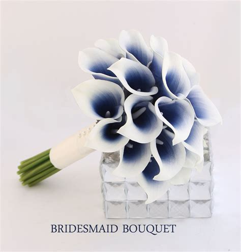 Blue Wedding Flower Pictures by Image Gallery Navy Blue Wedding Flowers