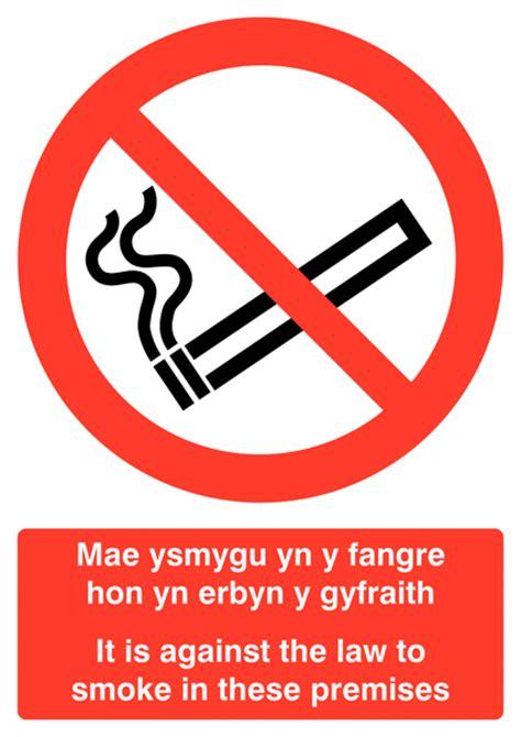 no smoking signs wales welsh english no smoking multilingual safety sign